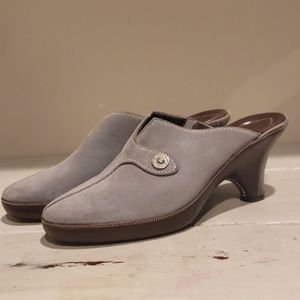 Cole Haan blueish/gray suede mule clog